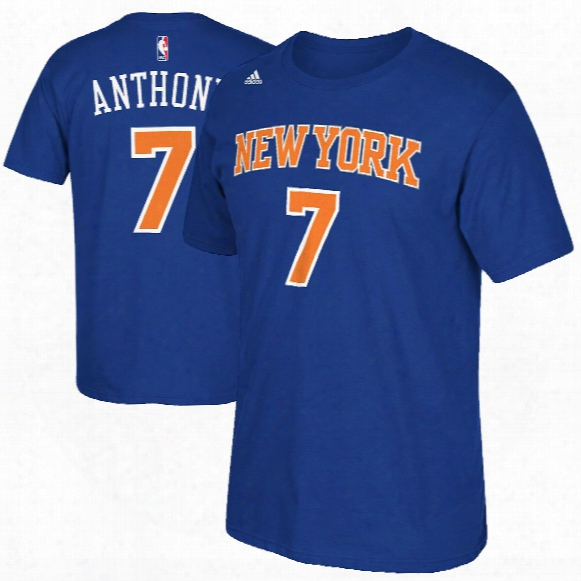Repaired York Knicks Carmelo Anthony Nba Name & Number T-shirt