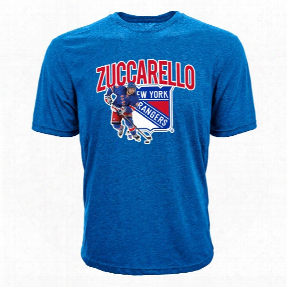 New York Rangers Mats Zuccarello Nhl Ac Tion Pop Applique T-shirt