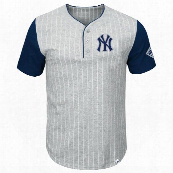 New York Yankees Pinstripe Henley T-shirt