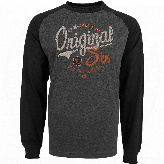 Nhl Original 6 Clarien Raglan Long Sleeve Jersey T-shirt