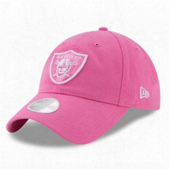 Oakland Raiders Nfl Women's Preferred Pick Relaxed Fit 9twenty Cap - Pink