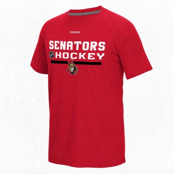 Ottawa Senators Authentic Center Ice Locker Room Supremium T-shirt (heather Red)