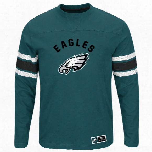 Philadelphia Eagles 2016 Power Hit Long Sleeve Nfl T-shirt With Felt Applique