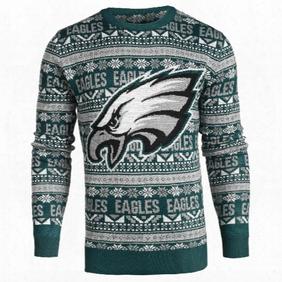 Philadelphia Eagles Nfl Big Logo Ugly Crewneck Sweater