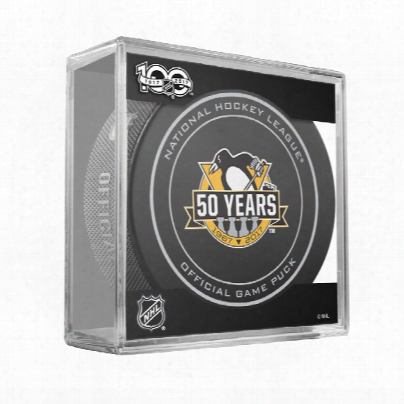 Pittsburgh Penguins 2017 Replica Game Puck With Case
