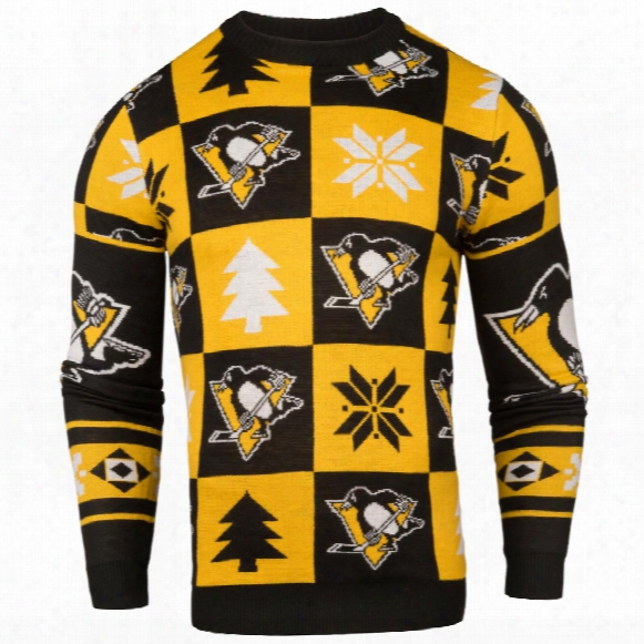 Pittsburgh Penguins Nhl Patches Ugly Crewneck Sweater