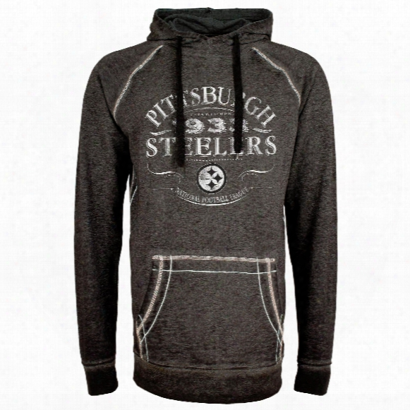 Pittsburgh Steelers Nfl Acid Washed Emblem Hoodie