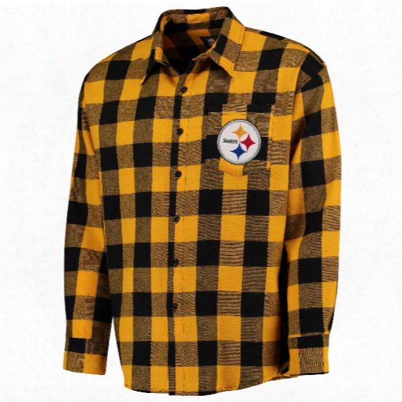 Pittsburgh Steelers Nfl Large Check Flannel Shirt