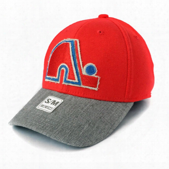 Quebec Nordiques Ccm Hockey Structured Stretch Fit Cap