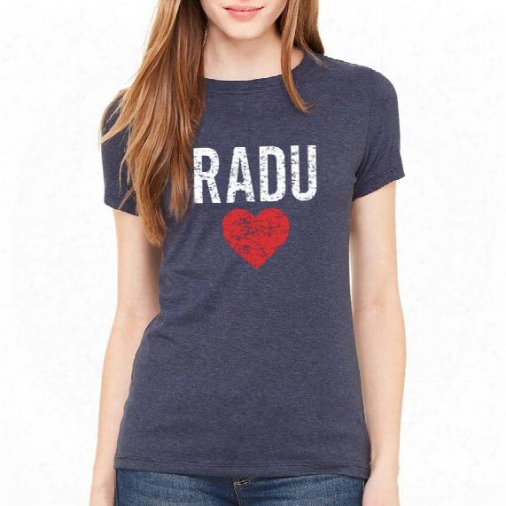 Radulove Women's Vintage Heathered Navy T-shirt