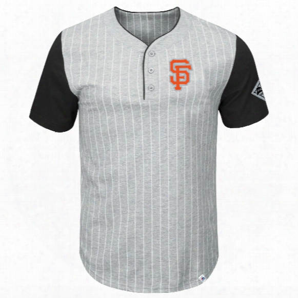 San Francisco Giants Pinstripe Henley T-shirt