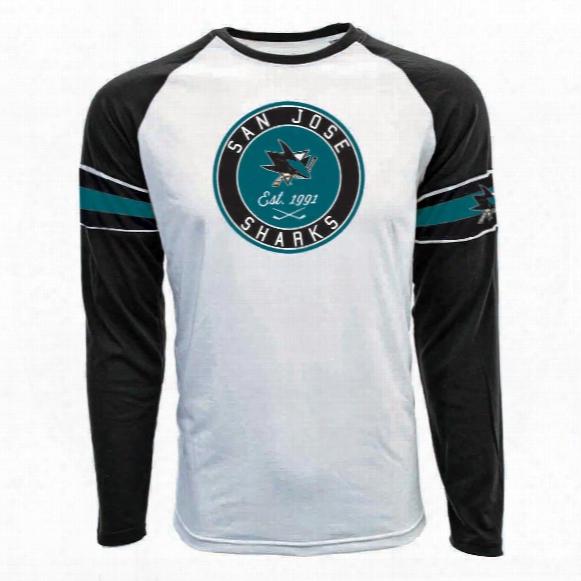 San Jose Sharks Face-off Fx Raglan Long Sleeve T-shirt