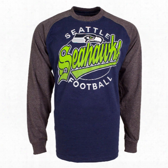 Seattle Seahawks Rounder Raglan Long Sleeve Jersey T-shir