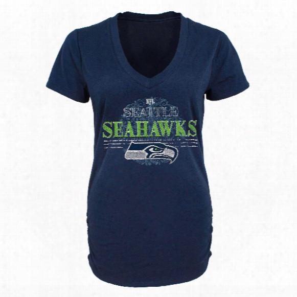 Seattle Seahawks Women's Charm V-neck Tri-blend T-shirt