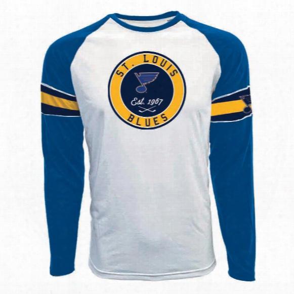 St. Louis Blues Face-off Fx Raglan Long Sleeve T-shirt
