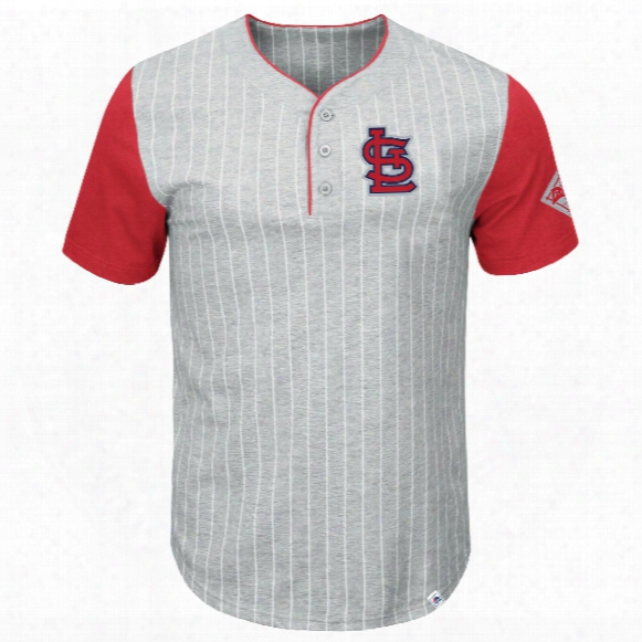 St. Louis Cardinals Pinstripe Henley T-shirt