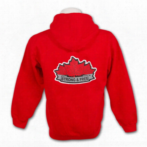 *strong & Free* Full Zip Hoody (red)