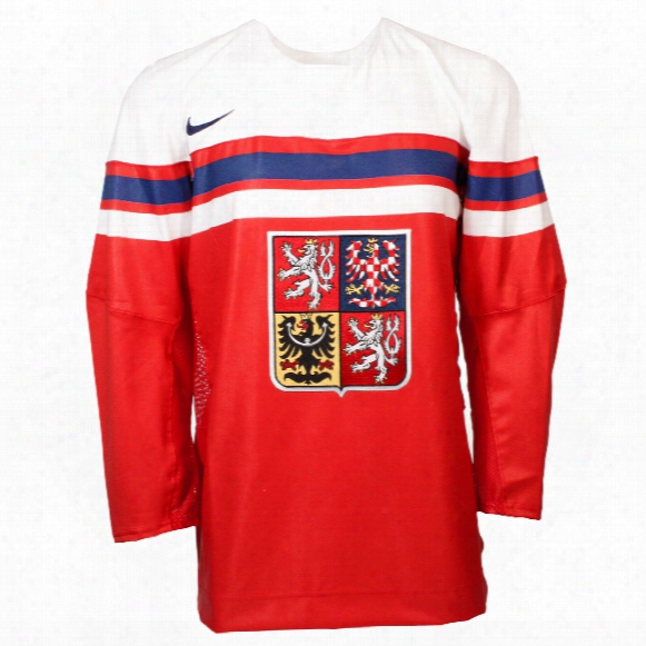 Team Czech Iihf 2016-17 Official Twill Replica Hofkey Jersey
