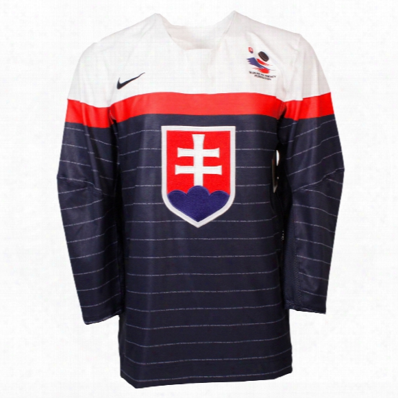 Team Slovakia Iihf 2016-17 Official Twill Replica Hockey Jersey