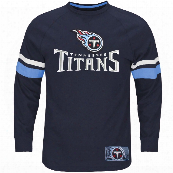Tennessee Titans 2016 Power Hit Long Sleeve Nfl T-shirt With Felt Applique