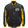 Green Bay Packers Superstar Pleather Varsity Jacket