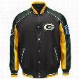 Green Bay Packers Superstar Pleather Varsity Jacket
