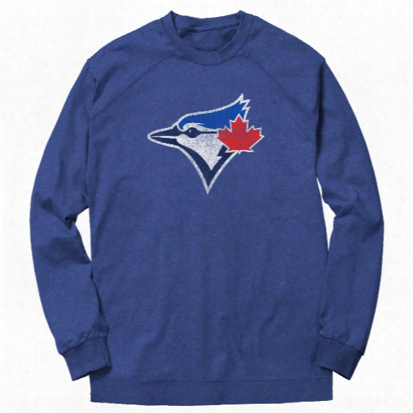 Toronto Blue Jays Dist Ressed Logo French Terry Crew (heather Royal)