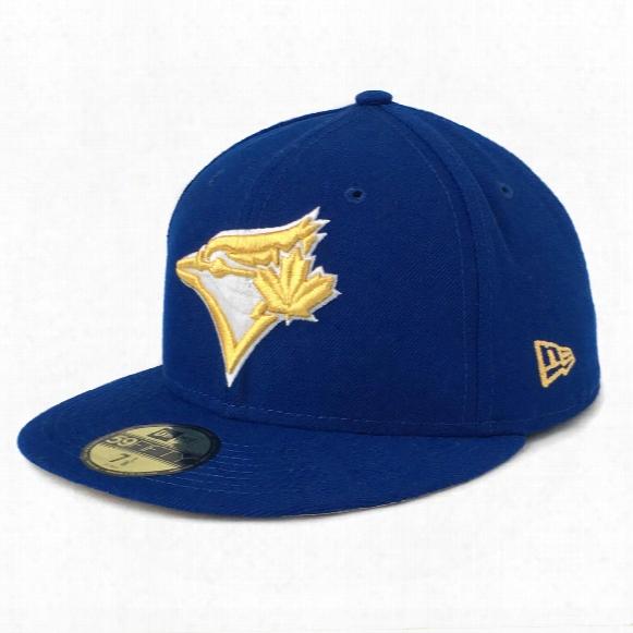 Toronto Blue Jays Gold City 59fifty Mlb Baseball Cap