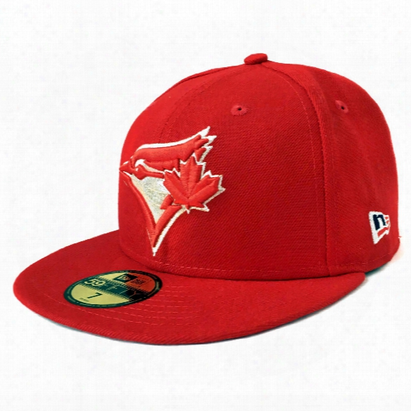 Toronto Blue Jays Patriotic Trim 59fifty Fitted Mlb Baseball Cap