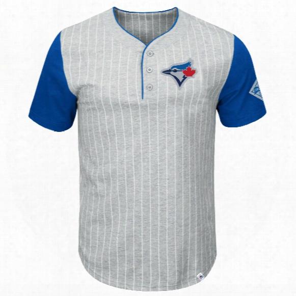 Toronto Blue Jays Pinstripe Henley T-shirt