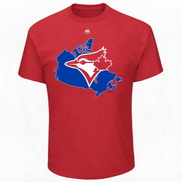 Toronto Blue Jays Red Logo Map T-shirt