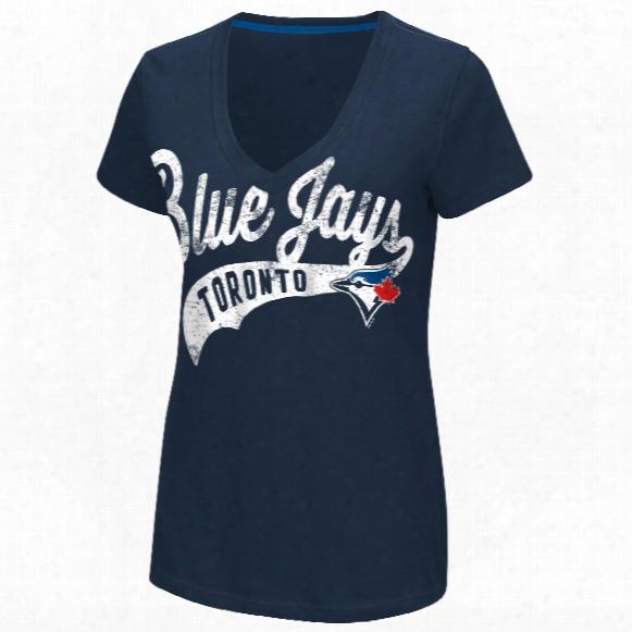Toronto Blue Jays Women's Away Game V-neck T-shirt