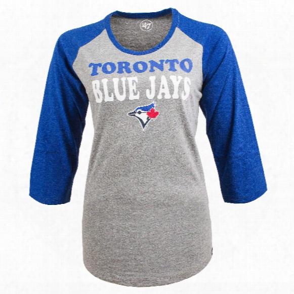 Toronto Blue Jays Women's Club Raglan 3 Quarter T-shirt