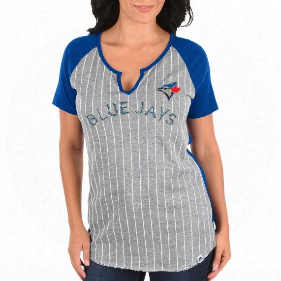 Toronto Blue Jays Women's From The Stretch Notch Neck T-shirt