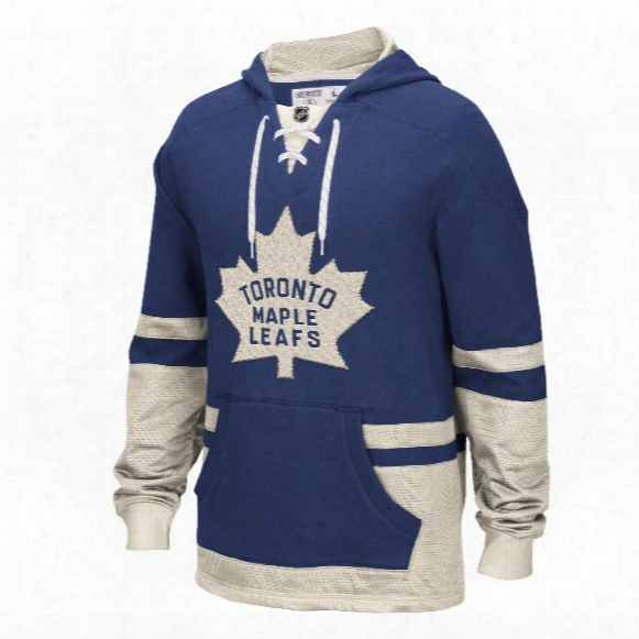 Toronto Maple Leafs Ccm Retro Pullover Lace Hoodie