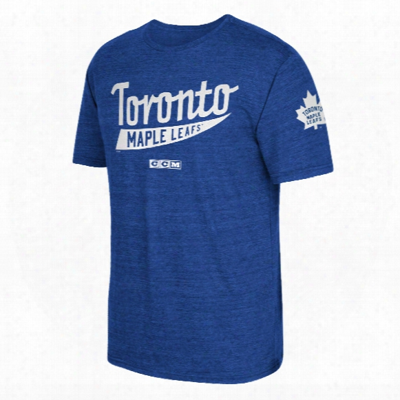 Toronto Maple Leafs Ccm Strike First Tri-blend T-shirt
