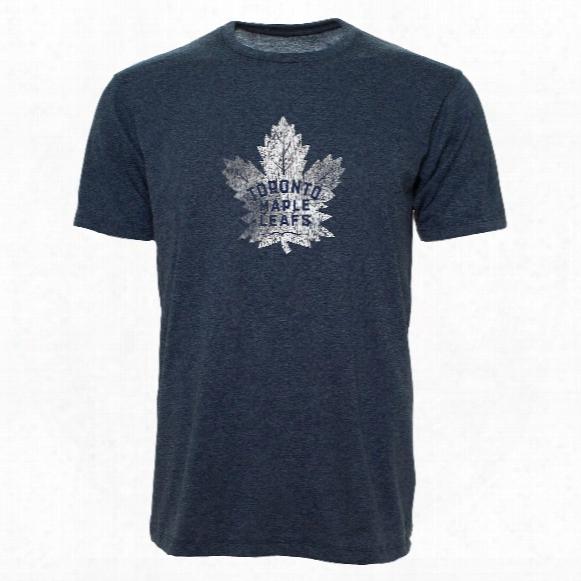 Toronto Maple Leafs Old Time Lightweight Heathered Bi-blend T-shirt 2