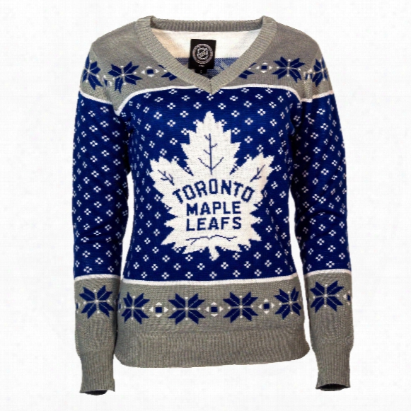 Toronto Maple Leafs Women's Nhl 2016 Ugly V-neck Sweater