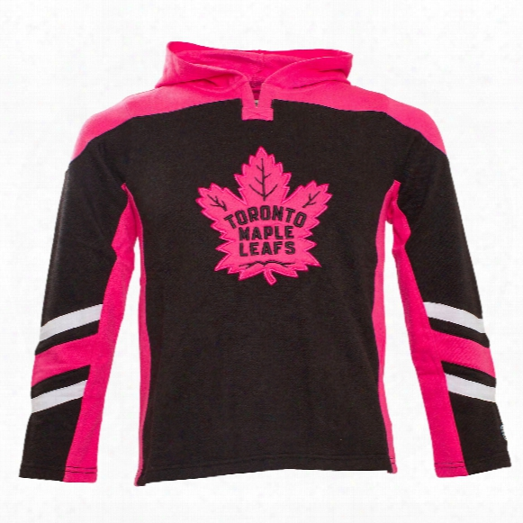 Toronto Maple Leafs Youth Bblush Long Sleeve Hooded Top