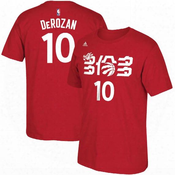 Toronto Raptors Ch Inese New Year Demar Derozan Nba Name & Number T-shirt - Red