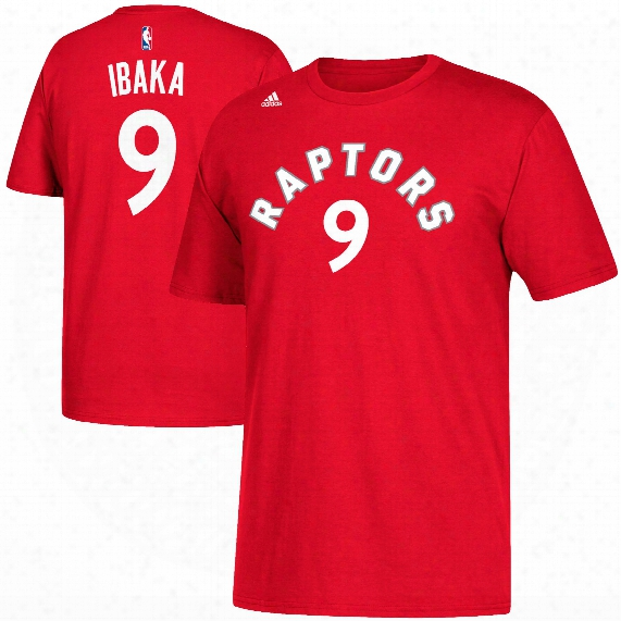 Toronto Raptors Serge Ibaka Nba Name & Number T-shirt - Red