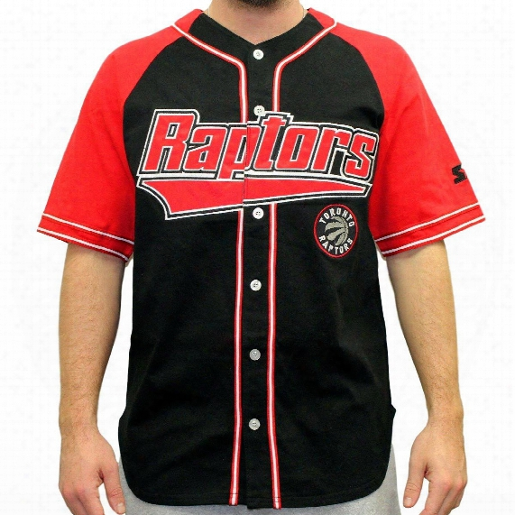 "Toronto Raptors Starter Nba ""double Play"" Baseball Jersey"