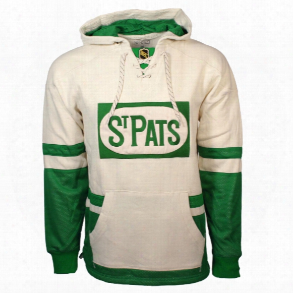 Toronto St. Pats Ccm Retro Pullover Lace Hoodie