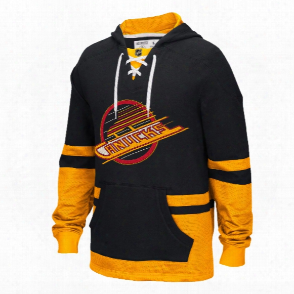 Vancouver Canucks Ccm Retro Pullover Lace Hoodie