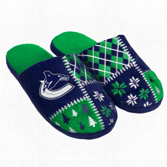 Vancouver Canucks Men's Ugpy Sweater Knit Slippers