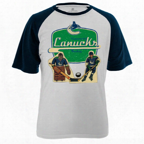 Vancouver Canucks Table Top Fx Raglan T-shirt