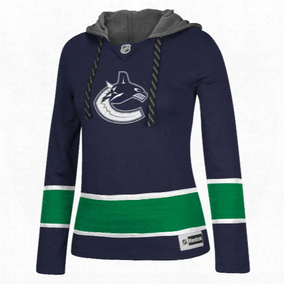 Vancouver Canucks Women's Jersey Crewdie Pullover Hood