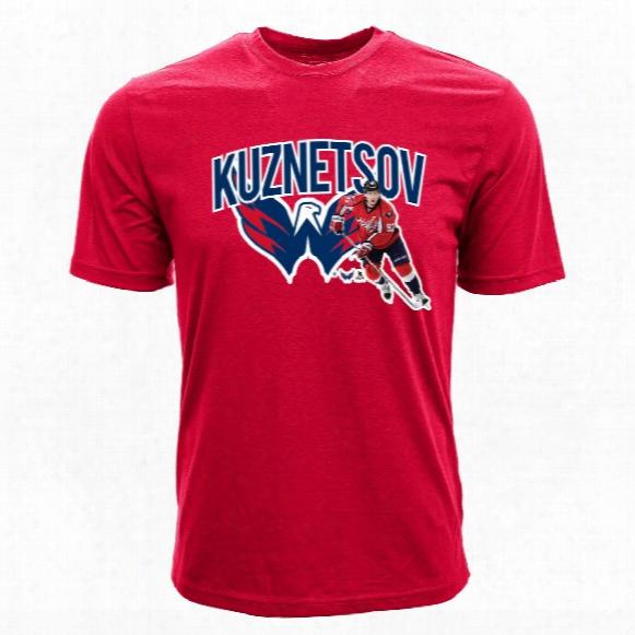 Washington Capitals Evgeny Kuznetsov Nhl Action Pop Applique T-shirt