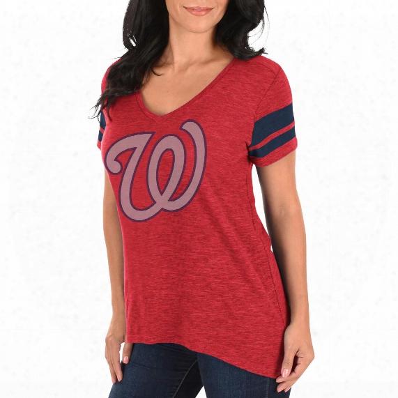 Washington Nationals Women's Check The Tape V-neck T-shirt