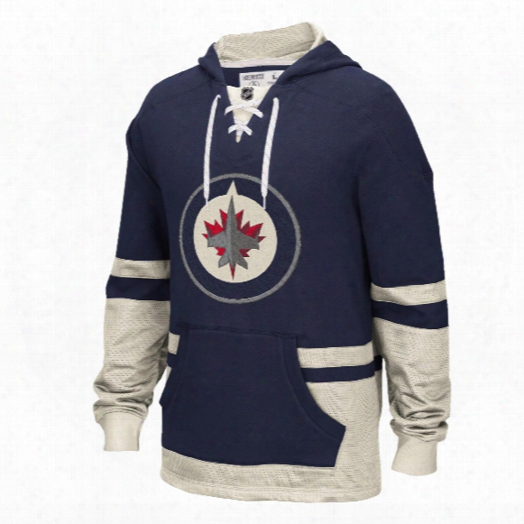 Winnipeg Jets Ccm Retro Pullover Lace Hoodie